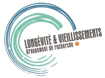 Logo de Longévité et vieillissements groupe de recherche